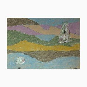 Julien Dinou, Abstrakte Komposition, 1970er