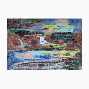 Julien Dinou, Composition abstraite, 1970s