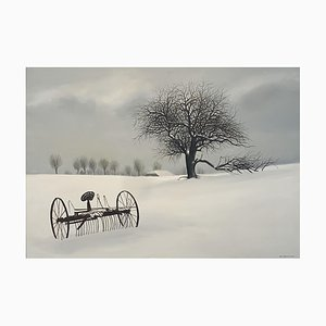 Claude Sauthier Agricultural Machinery in the Snow, 2000