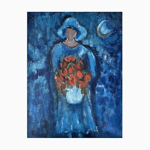William Goliasch Woman with Bouquet, 1960