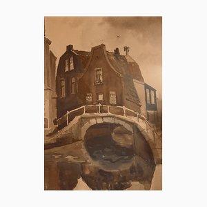 Ellis Zbinden, Maison sur le pont, 1980