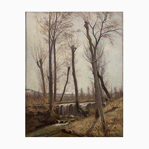 Jules Matthey, La Drize au printemps, Troinex, 1909