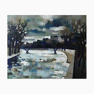 Guy Charon, Le pont de la Seine, Paris, 1962