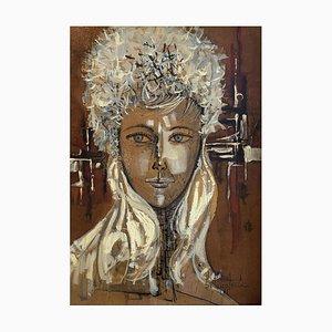 Paul Delapoterie, Jeune femme métissée, 1961