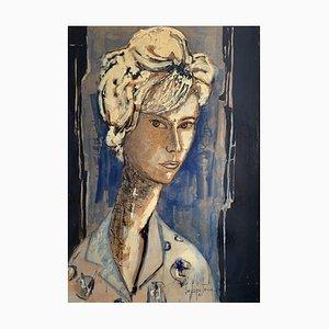 Paul Delapoterie, Jeune femme à la chemise, 1961