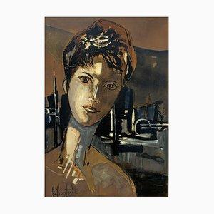 Paul Delapoterie, Portrait de jeune femme, 1960s