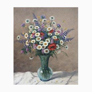 Albert Duplain, Bouquet de fleur, 1960