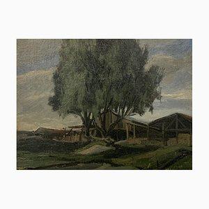 Marius Chambaz, L'arbre devant la grange, 1945