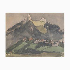 John Torcapel, Paysage montagneux, 1945