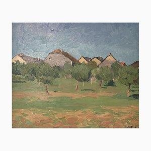 Paesaggio di John Torcapel, Case del villaggio di Burtigny, 1921