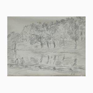 Paul Mathey, Balade sur l'eau à l'Île de Saint-Louis, 1933