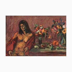 Gérald Comtesse, Nu aux deux bouquets, 1998