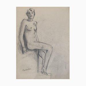 Benjamin Vautier II Naked Sketch, 1941