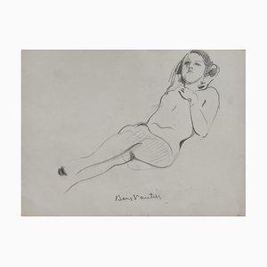 Benjamin II Vautier, Esquisse de nu, 1932