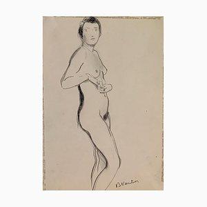 Benjamin II Vautier, Esquisse de nu, 1939