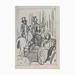 Benjamin II Vautier, Balade en calèche, 1953