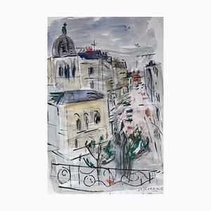 Alexandre Rochat, Paysage urbain, 1960