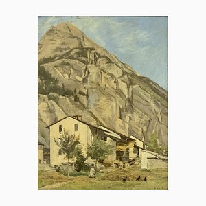 Jules Gaud, Montagne et ferme, 1900