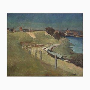 Emile Bressler, Paysage au bord de l'eau, 1932