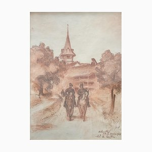 Edouard Gaspard, Castres Chemin de Berne, Suisse, 1914