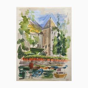 Pierre Duc, Le port de Thonon, 1988
