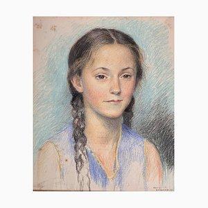 David Arnold Burnand, Portrait d'une fille, 1933