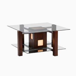 Table Basse Vintage Eclairée en Palissandre, Italie