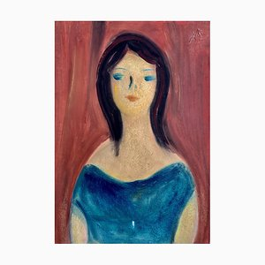 Alexandre Rochat, Portrait de femme, 1960s