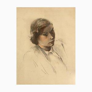 Henri Fehr, Portrait de femme, 1951