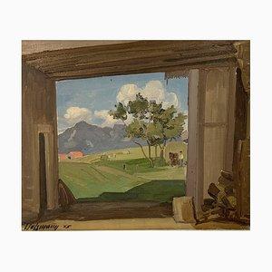 Louis Henri Salzmann, View of the Barn, 1935