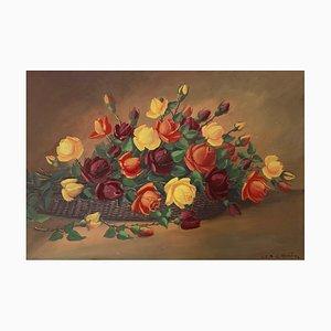 Eugene Devaud De Madelin Basket of Roses, 1970