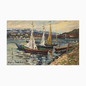 Harry Urban, Sailboats in a Lake, 1910