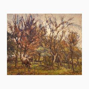 Charles Émile, Moïse Hornung Paysage d'Automne, 1942