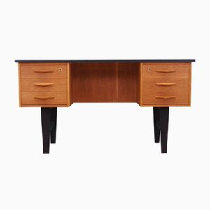 Eiche Schreibtisch, Dänemark, 1970er