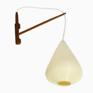 Swiveling Rotaflex Wall Lamp with Teak Frame, 1960s
