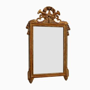Louis XVI Style Mirror in Gilded Wood, Late 19th Century