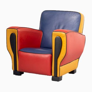 Leather Hip-Hop Lounge Chair by Peter Zoetendaal, 1990s