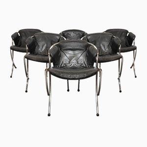 Italienische Lynn Esszimmerstühle von Gastone Rinaldi für Rima, 1970er, 6er Set
