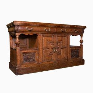 Large Late Victorian Scottish Dresser Base or Buffet in Oak, 1880s