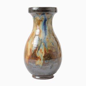Vintage Vase mit Tropflasur von Roger Guerin, 1930er