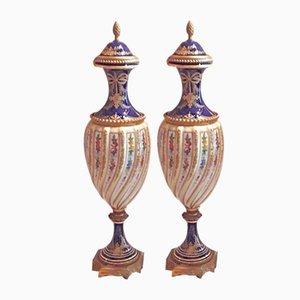 Vases in Porcelain from Sevres