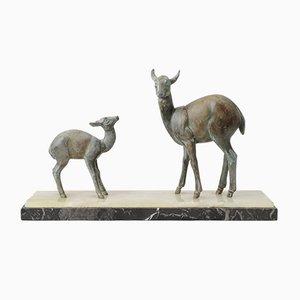 Art Deco Roe Deer Sculpture, 1930s