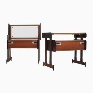 Vintage Teak Bedside Tables from Sorgente dei Mobili, 1950s, Set of 2