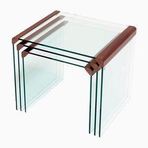 Tables Gigognes T35 par Pierangelo Gallotti pour Gallotti & Radice, Italie, Set de 3