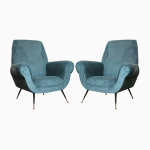 Italian Lounge Chairs by Gigi Radice, 1950s, Set of 2
