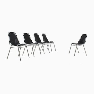 Vintage Les Arcs Chairs by Charlotte Perriand, 1960s, Set of 5