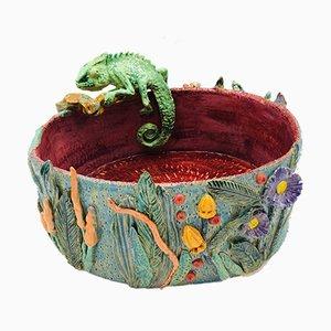 Large Bestiaries Series Chameleon Dish by Caroline Pholien, 2019