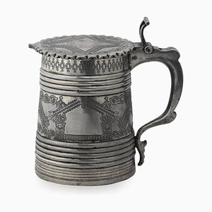 19th Century Russian Solid Silver Tankard, Moscow, 1880s
