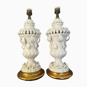 Table Lamps in Manises Ceramic from Hispania, Spain, 1960s, Set of 2