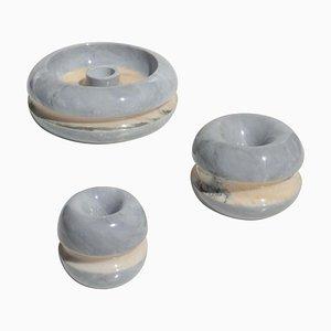 Marble Ashtray Set by Massimo Vignelli for Casigliani, 1970s, Set of 3